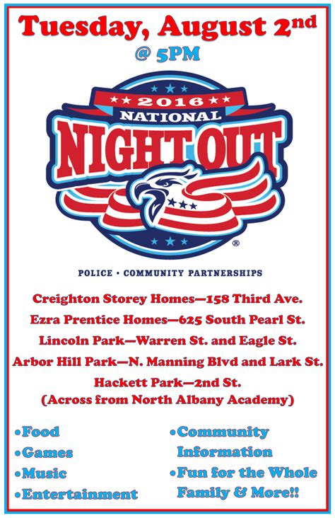 national out flyer template national out 2016 in albany albany housing