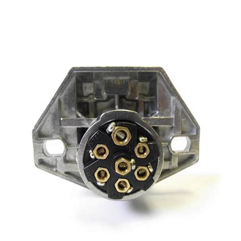 7 way trailer wiring socket with split pins brass contacts