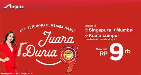 Promo AirAsia Indonesia! Terbang Bersama Sang Juara Dunia
