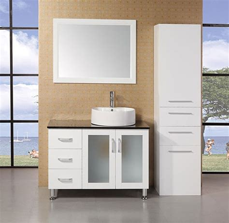 Modern Bathroom Vanities Miami Fl Design Element Malibu Single 40 Inch Modern Bathroom