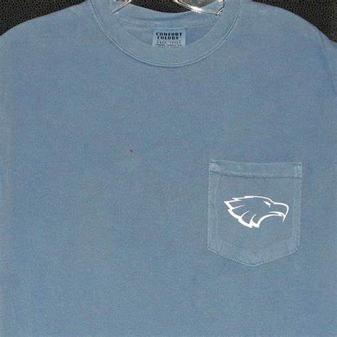 comfort eagle vinyl 2016 block a with eagle head comfort colors pocket t shirt