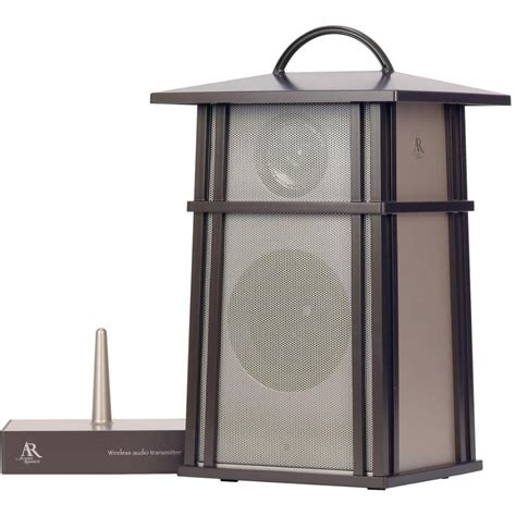 backyard speakers acoustic research aw825 wireless outdoor lantern speaker aw825