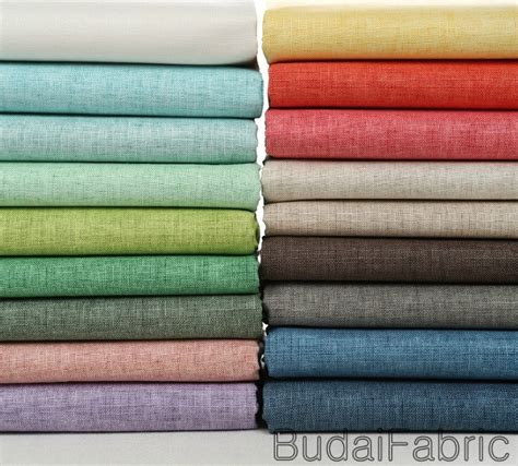 material korean solid color wax coating linen fabric by the yard cotton fabric