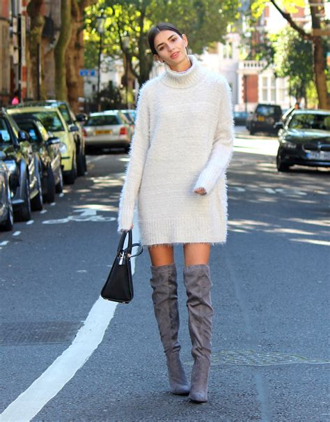cosy knitwear and knee high boots peexo
