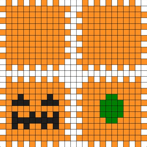 3d perler bead patterns 3d pumpkin perler bead pattern bead sprites holidays