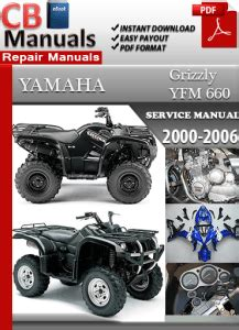 Yamaha Yfm 660 Grizzly 2000 2006 Workshop Manual Download