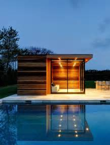 tiny pool house small house outdoor pool wooden wall olpos design