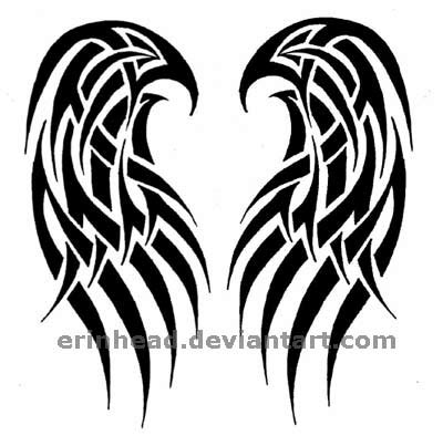tribal angel wing tattoos wings images designs