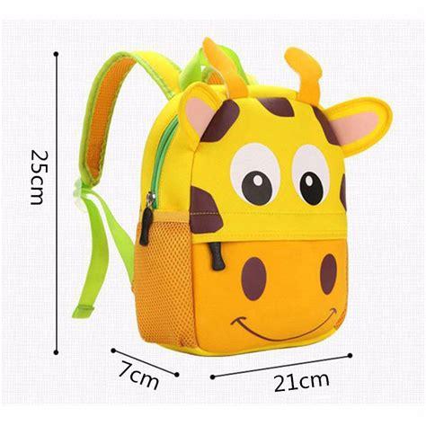 Tas Anak Sekolah Lucu tas sekolah anak gambar kartun hewan lucu yellow