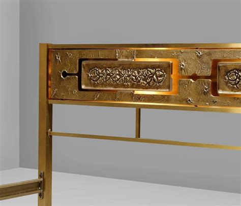 illuminated solid brass king size bed for sale at 1stdibs