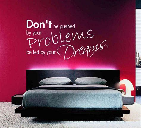 d problem in bedroom dreams problems bedroom room wall art quotes stickers murals decals transfers ebay
