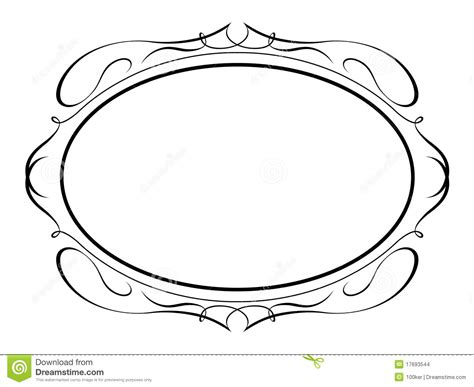 oval calligraphy penmanship decorative stock vector