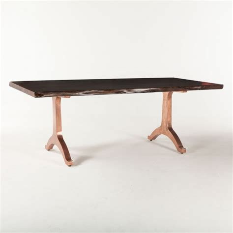 wishbone base organic dining table