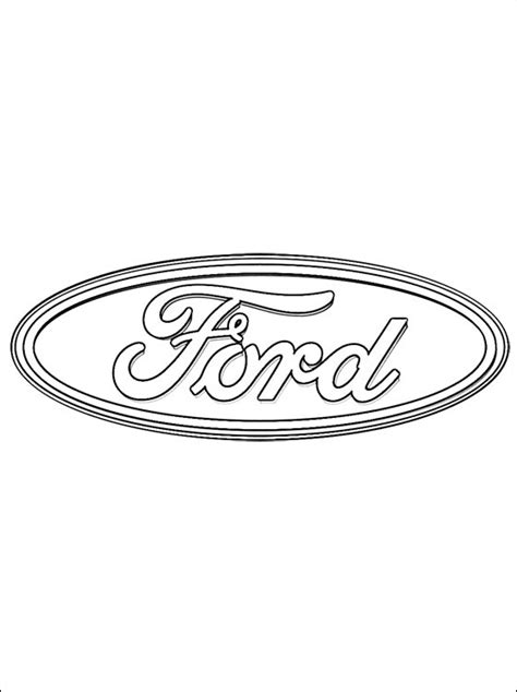 free logo ford mustang coloring pages