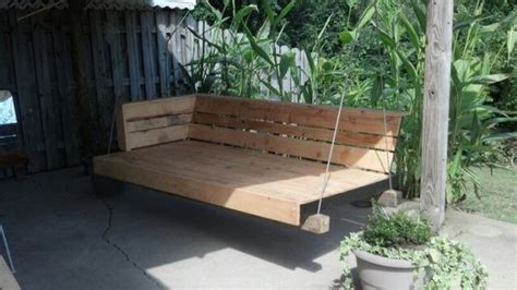 pallet swing bench 40 diy pallet swing ideas