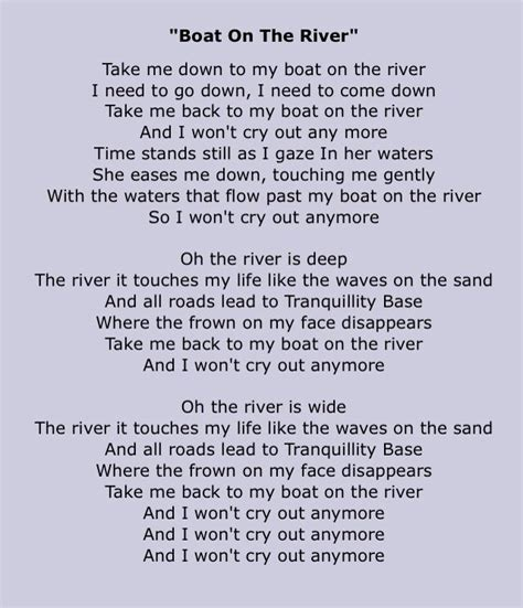 boat on the river lyrics 1000 images about vv lyrics on pinterest the cure i