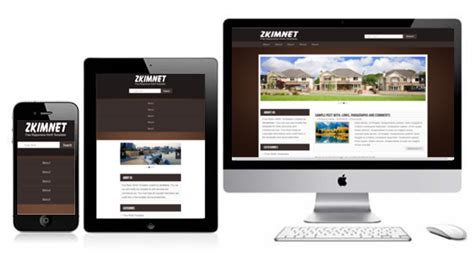 what is a responsive template zkimnet free responsive html5 theme zerotheme
