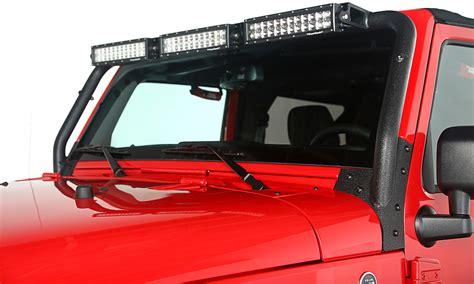 Jeep Wrangler Light Bar Kits Rugged Ridge 11232 26 Windshield Led Light Bar Kit For 07