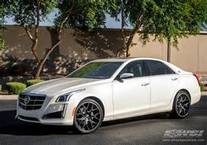 Cadillac With Rims 2014 Cadillac Cts With 20 Quot Gianelle In Matte Black