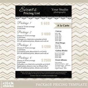 photography pricing list template 12