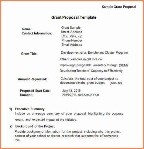 engineering proposal template 5 sample grant proposal for small business project proposal