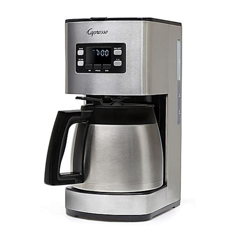 bed bath coffee maker capresso 174 st300 thermal coffee maker bed bath beyond