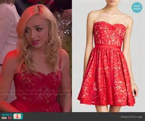 wornontv emma s red lace dress on jessie peyton list