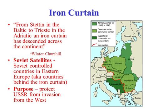 an iron curtain has descended across the continent the cold war ppt download