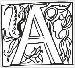 Free printable fancy block alphabet coloring pages
