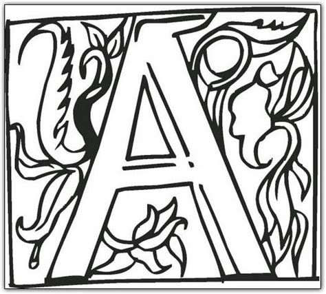 free coloring pages of block letter t