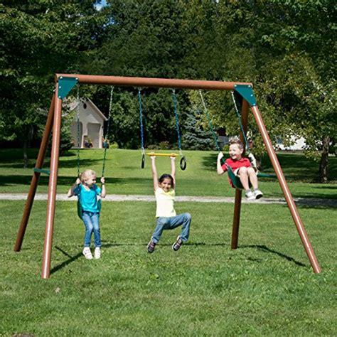 swing n swing n slide pb 8330 orbiter wood complete swing set