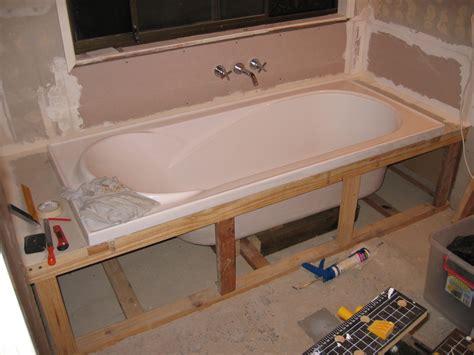 how to frame out that builder basic bathroom mirror for bathtub framing support bing images