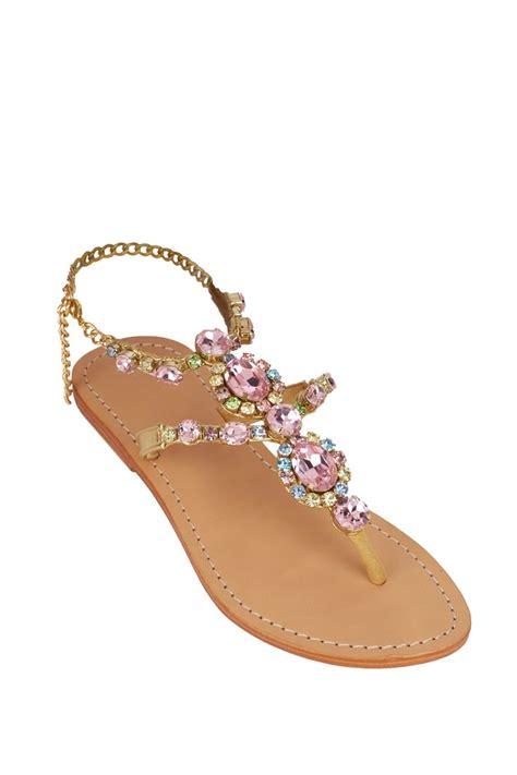 colored flats mystique jeweled flat sandals lalunacouture https
