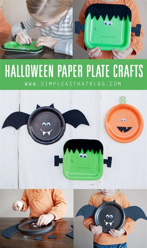 halloween craft ideas for kids craft ideas pinterest 9 paper plate halloween crafts for kids spaceships and