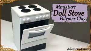 Miniature Dollhouse Kitchen Furniture miniature doll stove polymer clay tutorial youtube