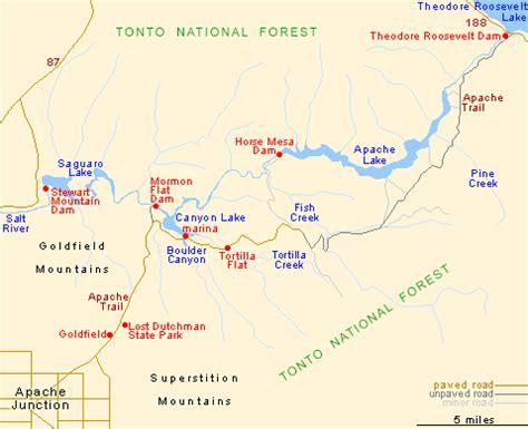 apache trail map apache trail arizona az 88