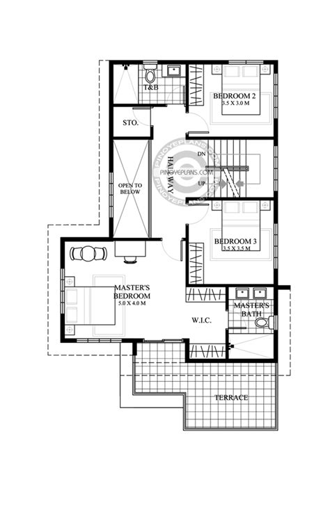 deck floor plan juliet 2 story house with roof deck pinoy eplans