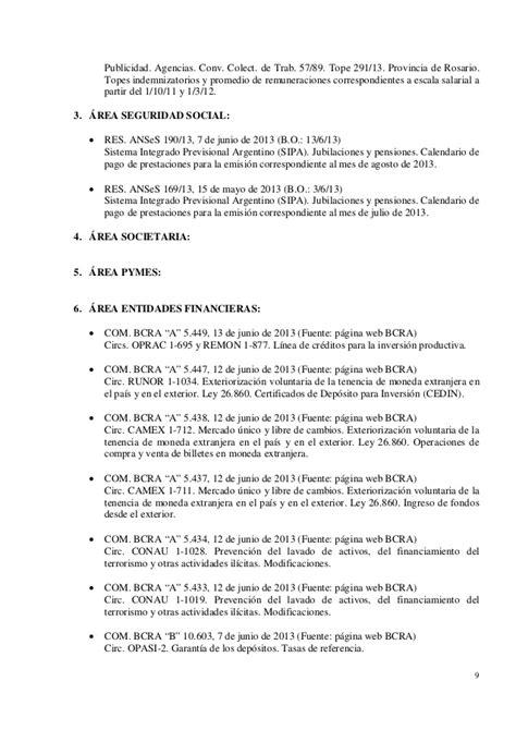escala salarial del conv colect de trab 56809 rama heladeros novedades de legislaci 243 n junio 2013