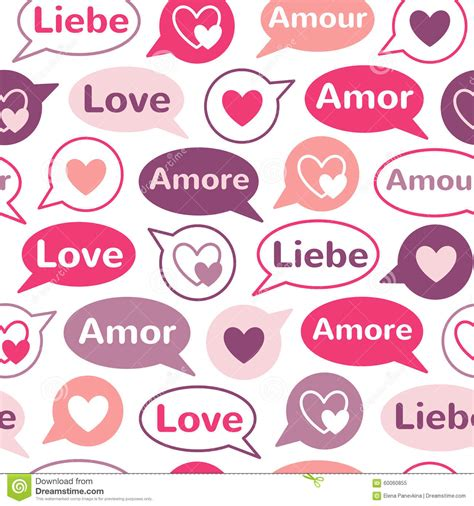 a pattern language audiobook word love in different languages with speech bubbles