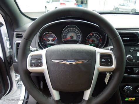 chrysler steering wheel 2013 chrysler 200 touring sedan black steering wheel photo