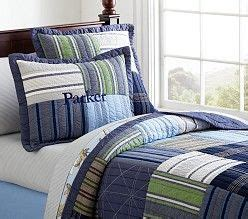 Quilts For Boy Room by Quilts Boys Quilt Bedding Pottery Barn