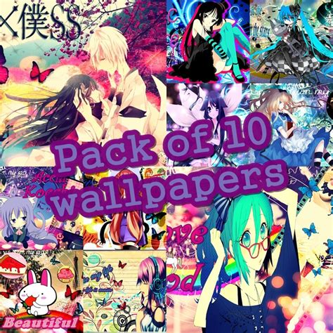wallpaper anime pack pack de 10 wallpapers anime girl by zoundnoize taringa
