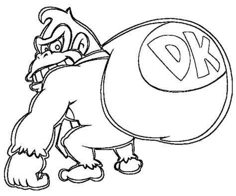 donkey kong game coloring page coloring pages