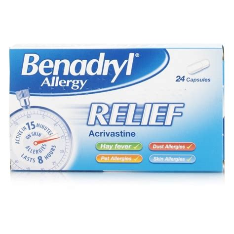 allergy remedies benadryl allergy relief capsules 24 allergy chemist direct