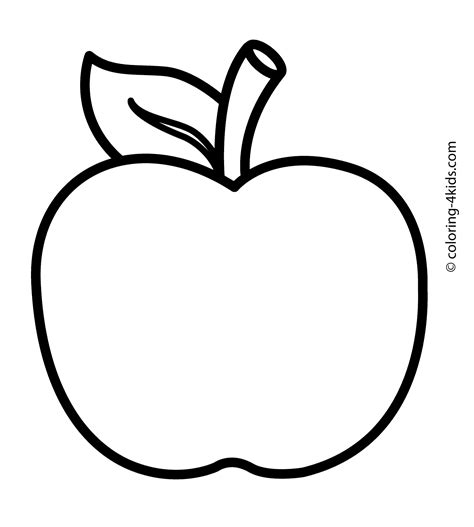 free printable coloring page of an apple apple fruits coloring pages nice for kids printable free