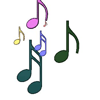 musical notes sheet music and moving sound clip art images