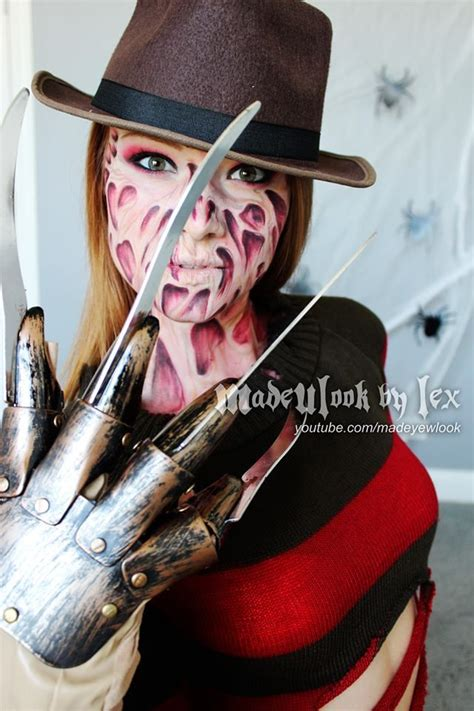 tutorial latex halloween madeulook freddy krueger tutorial no latex no mess all
