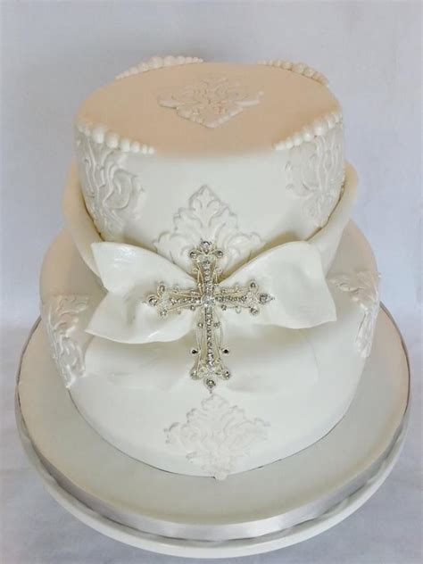 Pure White Baptism Cake Cake By Enza Sweet E Cakesde R