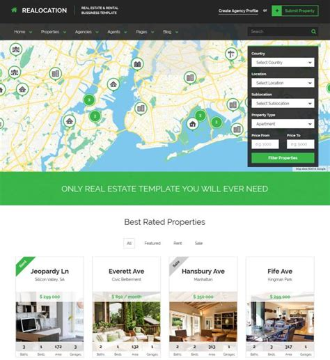 Top 20 Html Templates For Real Estate Websites Best Real Estate Website Templates