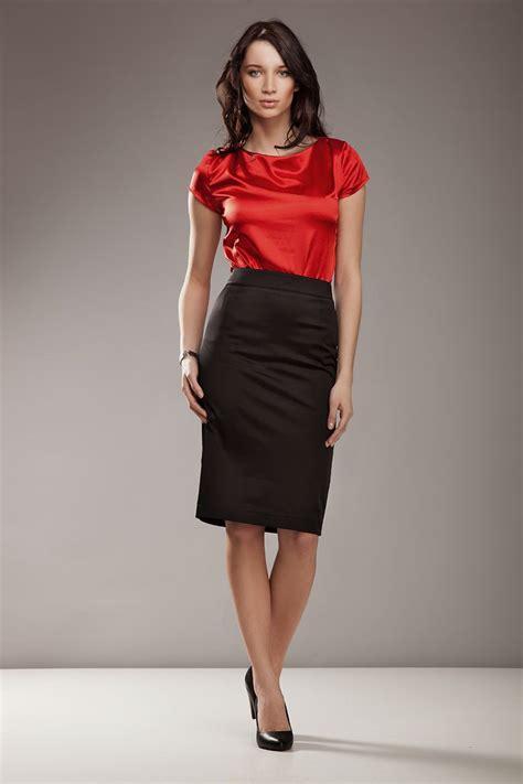 black satin pencil skirt satin blouse sheer